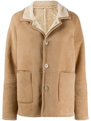 Giorgio Brato Reversible Shearling Jacket Neutrals