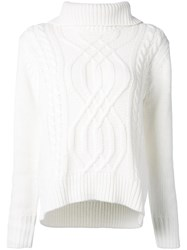 Guild Prime Cable Knit Turtleneck Jumper White