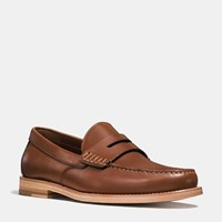 Coach Manhattan Leather Loafer Dark Saddle