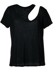 Unravel Project Cut Off Detail Shirt Women Cotton S Black