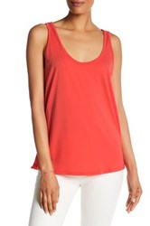 Michael Stars Double Scoop Tank Red