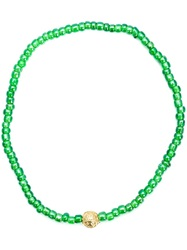 Luis Morais Heart Chakra Beaded Bracelet Green