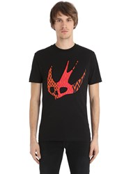 Mcq By Alexander Mcqueen Swallow Skull Cotton Jersey T Shirt