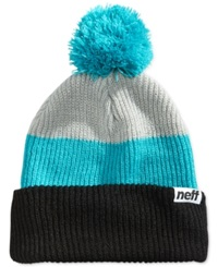Neff Snappy Ombre Striped Beanie Black Teal Grey