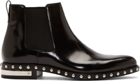 Givenchy Black Leather Studded Chelsea Boots