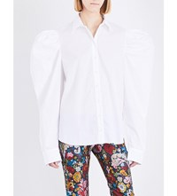 Marques Almeida Puff Sleeve Cotton Shirt White