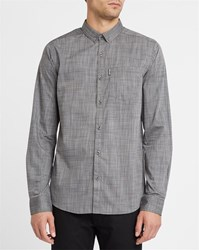 Iriedaily Grey Blend City Irie Micro Fibre Button Down Fitted Shirt