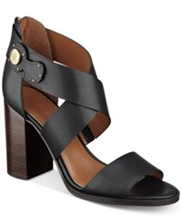 Tommy Hilfiger Paradise Strappy Sandals Women's Shoes Black