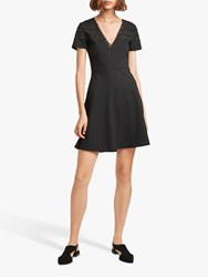 French Connection Vachel Flare Dress Black