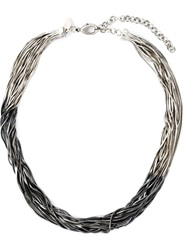 Iosselliani 'Black Hole Sun' Necklace Metallic