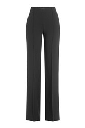 Agnona Wide Leg Wool Pants Black