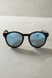 Anthropologie Macarena Mirrored Sunglasses Black