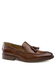 G.H. Bass Cooper Tassel Accented Leather Loafers Tan