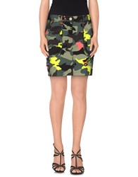 Blumarine Skirts Mini Skirts Women Military Green