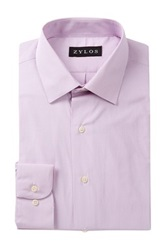 Alexander Julian Micro Stripe Long Sleeve Regular Fit Shirt Pink