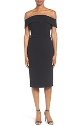 Boss Women's Diany Off The Shoulder Bonded Crepe Cocktail Dress