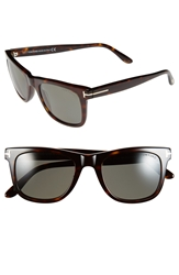 Tom Ford 'Leo' 52Mm Polarized Sunglasses Shiny Classic Havana