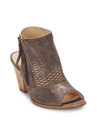 Paul Green Willow Leather Peep Toe Booties Earth