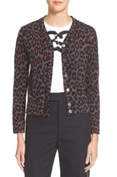 Marc By Marc Jacobs Leopard Jacquard Cardigan Pink