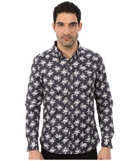 7 Diamonds Flourish Long Sleeve Shirt Brown Men's Long Sleeve Button Up