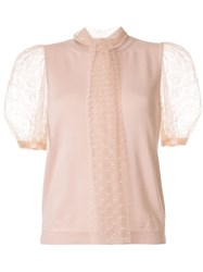 Red Valentino Point D'esprit Sleeves Knitted Top 60