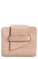 Allsaints Small Ray Leather Wallet Pink Blush Pink