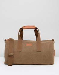 Esprit London Holdall In Canvas Brown Grey