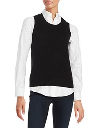 Lord And Taylor Cashmere Sweater Vest Black