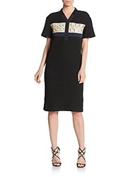 Proenza Schouler Tech Honeycomb Dress Black