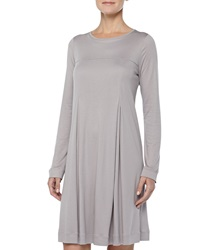 Hanro Tribeca Inverted Pleat Short Gown Ash