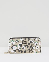 Nica Printed Zip Around Wallet Leopard Print Multi