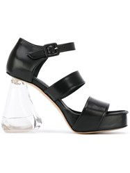 Simone Rocha Perspex Heel Strappy Sandals Women Calf Leather Leather Acrylic 37 Black