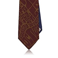 Dries Van Noten Men's Wes Wilson Jacquard Necktie Red