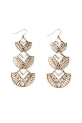 Forever 21 Tiered Geo Cutout Drop Earrings