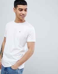Tommy Jeans Crew Neck T Shirt In White Classic White