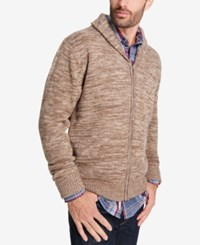 Weatherproof Vintage Men's Shawl Collar Cardigan Light Brown