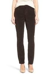 Nydj 'Alina' Skinny Stretch Corduroy Pants Petite Brown