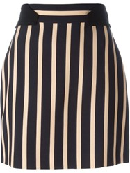 Emanuel Ungaro Striped Mini Skirt Black
