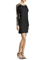 Delfi Collective Lexi Sheer Dot Sleeve Dress Black