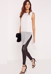 Missguided Longline Sleeveless Blouse White White