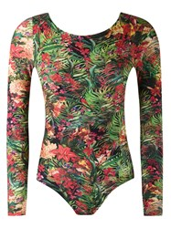 Lygia And Nanny Floral Print Swimsuit Green