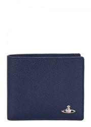 Vivienne Westwood Navy Grained Leather Wallet Blue