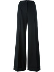 Dolce And Gabbana Wide Leg Trousers Black