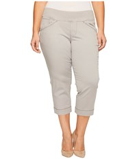 Jag Jeans Plus Size Marion Crop In Bay Twill Shadow Women's Casual Pants Brown