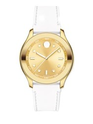 Movado Bold Goldtone Stainless Steel And Silicone Strap Sport Watch White