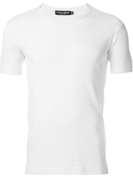 Dolce And Gabbana Fitted T Shirt White