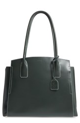 Lodis Zola Leather Tote Green Forest Moss