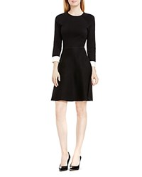 Vince Camuto Fit And Flare Sweater Dress Rich Black
