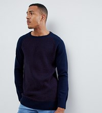 Another Influence Tall Waffle Front Jumper Navy