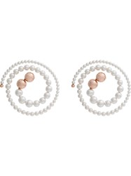 Y Project White Spiral Pearl Earrings